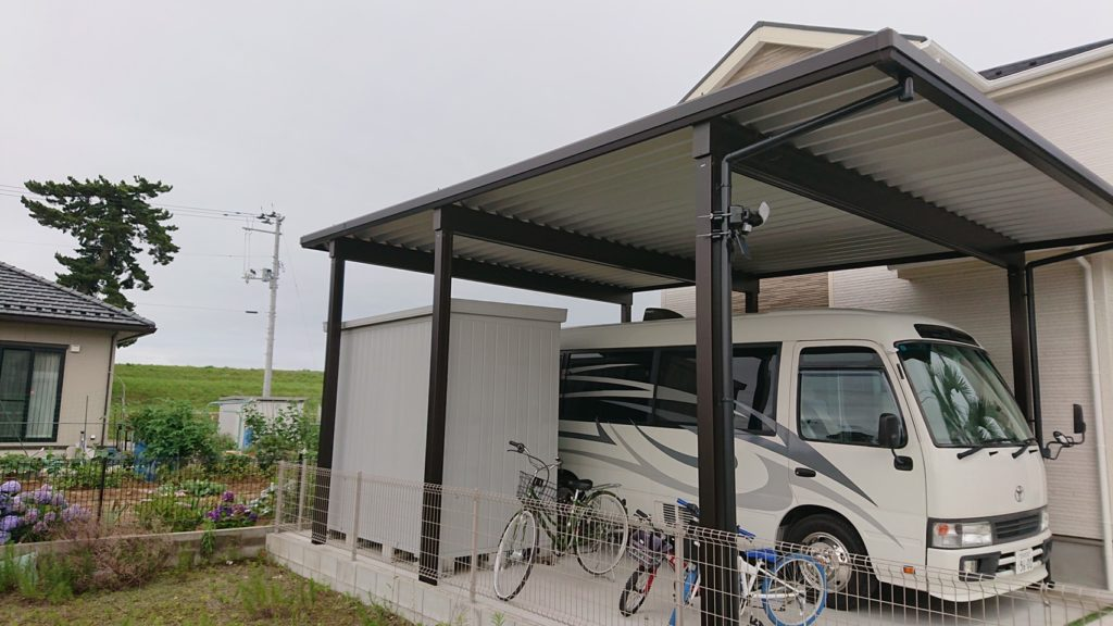 名取市T様宅ガレージ改修工事風景